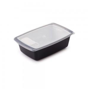 Imagem do produto - Travessa de Plástico Retangular 350 ml com Tampa e Válvula Duo 360°