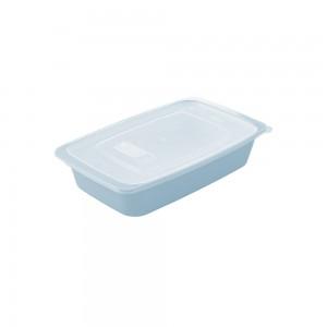 Imagem do produto - Travessa de Plástico Retangular 1,14 L com Tampa e Válvula Duo 360° Azul
