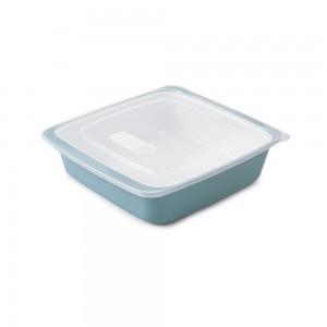 Imagem do produto - Travessa de Plástico Retangular 1,25 L com Tampa e Válvula Duo 360°