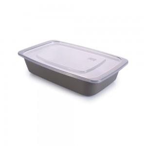 Imagem do produto - Travessa de Plástico Retangular 1,14 L com Tampa e Válvula Duo 360°