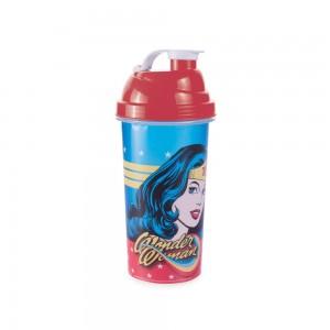 Imagem do produto - Shakeira de Plástico 580 ml com Tampa Rosca e Misturador Mulher Maravilha