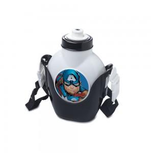 Imagem do produto - Cantil de Plástico 460 ml com Suporte e Alça Avengers Capitão América