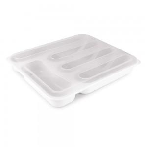 Imagem do produto - Porta Talheres de Plástico com Tampa 5 Divisórias