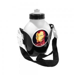Imagem do produto - Cantil de Plástico 460 ml com Suporte e Alça Avengers Homem de Ferro