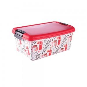 Imagem do produto - Caixa de Plástico Ratangular 4,2 L com Tampa e Travas Laterais Coca Cola
