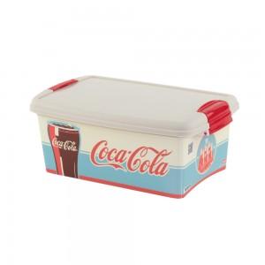 Imagem do produto - Caixa de Plástico Retangular 4,2 L com Tampa e Travas Laterais Coca Cola