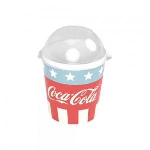 Imagem do produto - Pote de Plástico 600 ml com Tampa Fixa Coca Cola
