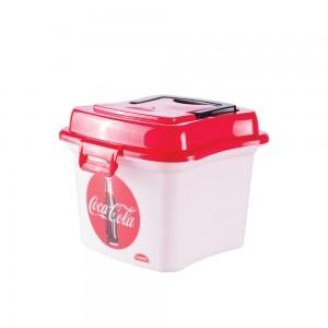 Imagem do produto - Caixa de Plástico 1 L com Tampa Fixa e Alça Coca Cola