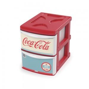 Imagem do produto - Gaveteiro de Plástico com 2 Gavetas Coca Cola
