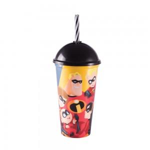Imagem do produto - Copo Shake de Plástico 500 ml com Tampa e Canudo Os Incríveis