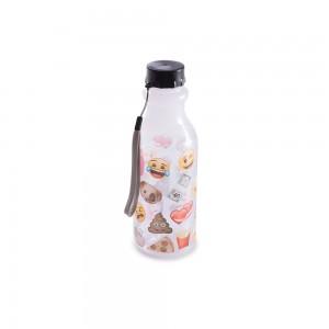 Imagem do produto - Garrafa de Plástico 500 ml com Tampa Rosca Retrô Emoji