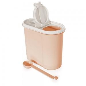 Imagem do produto - Pote de Plástico para Café ou Açúcar com Colher Tampa e Trava