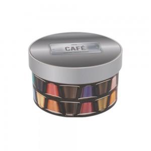 Imagem do produto - Caixa de  Plástico Redonda 1,5 L com Tampa Encaixável Cápsula de Café