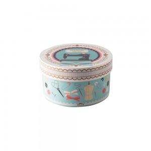 Imagem do produto - Caixa de Plástico Redonda 1,2 L com Tampa Encaixável Costura
