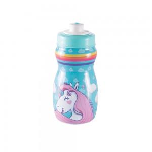 Imagem do produto - Garrafa Squeeze de Plástico 300 ml com Tampa Rosca Unicórnio