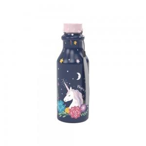 Imagem do produto - Garrafa de Plástico 500 ml com Tampa Rosca Retrô Unicórnio
