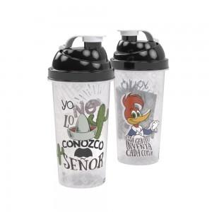 Imagem do produto - Shakeira de Plástico 580 ml com Tampa Rosca e Misturador Pica Pau