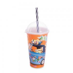 Imagem do produto - Copo Shake de Plástico 500 ml com Tampa e Canudo Meu Malvado Favorito