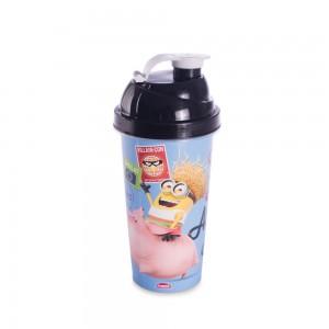 Imagem do produto - Shakeira de Plástico 580 ml com Tampa Rosca e Misturador Minions