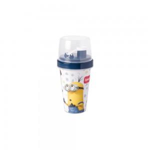 Imagem do produto - Mini Shakeira de Plástico 320 ml com Misturador Fechamento Rosca e Sobretampa Articulável Meu Malvado Favorito