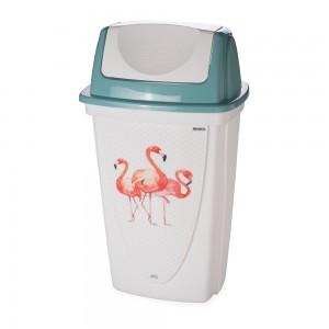 Imagem do produto - Lixeira de Plástico 14 L com Tampa Basculante Flamingo
