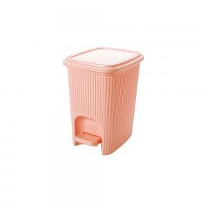 Imagem do produto - Lixeira de Plástico 7 L com Pedal Trama Rosa
