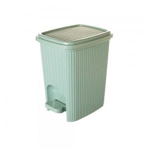 Imagem do produto - Lixeira de Plástico 7 L com Pedal Trama Verde