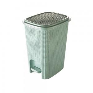 Imagem do produto - Lixeira de Plástico 12 L com Pedal Trama Verde
