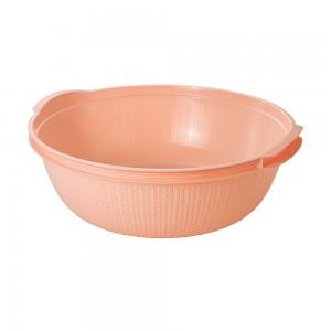 Imagem do produto - Bacia de Plástico Redonda 17 L com Pegador Trama Rosa