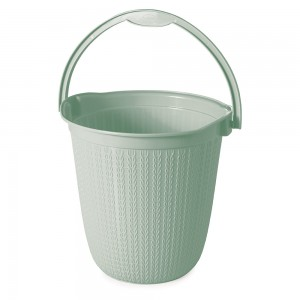 Imagem do produto - Balde de Plástico 8 L com Alça Trama Verde