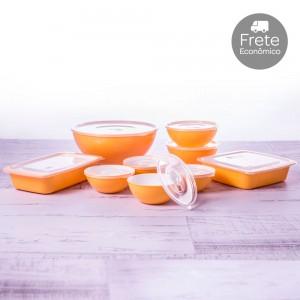 Imagem - Kit de Potes - 9 Peças | Duo 360° 001254-3877 Amarelo