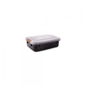 Imagem do produto - Caixa de Plástico Retangular Organizadora 6,7 L com Tampa e Travas Laterais PRO
