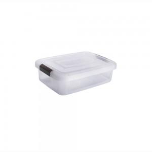 Imagem do produto - Caixa de Plástico Retangular Organizadora 11,5 L com Tampa e Travas Laterais PRO