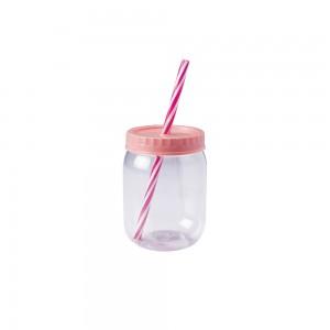 Imagem do produto - Copo de Plástico 380 ml com Tampa Rosca e Canudo