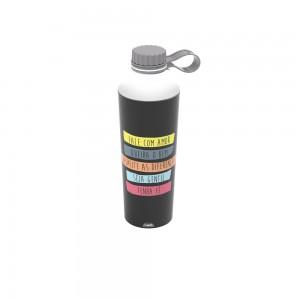 Imagem do produto - Garrafa de Plástico 660 ml com Tampa Rosca Fixa Vip De Bem com a Vida