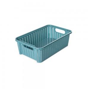 Imagem do produto - Cesta de Plástico Retangular Organizadora 2,1 L Empilhável Trama