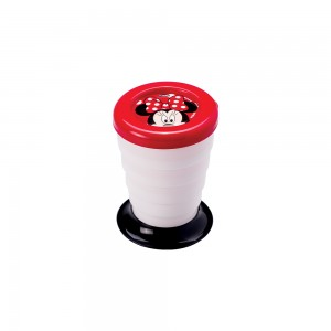 Imagem do produto - Copo Retrátil de Plástico 330 ml com Tampa Minnie