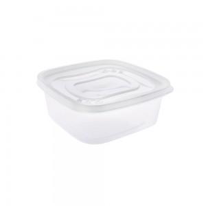Imagem do produto - Pote de Plástico Quadrado 580 ml Clic