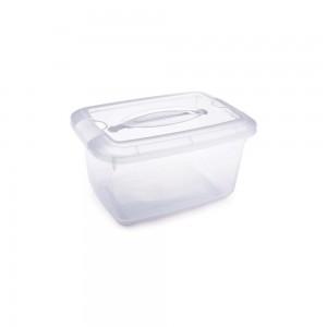 Imagem do produto - Caixa de Plástico Retangular Organizadora 5,2 L com Travas Laterais e Alça