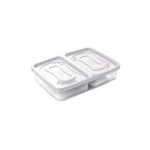 Imagem do produto - Pote de Plástico Retangular 1 L com 2 Divisórias Clic