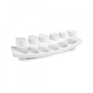 Imagem do produto - Porta Condimentos de Plástico com 6 Unidades e Base