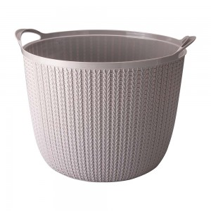 Imagem do produto - Cesta de Plástico Redonda 25,5 L com Alças Trama Cinza
