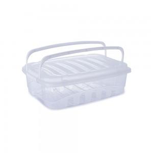 Imagem do produto - Caixa de Plástico Retangular Organizadora 9,3 L com Tampa, Travas Laterais e Alça Gran Box