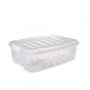 Imagem do produto - Caixa de Plástico Retangular Organizadora 13 L com Tampa e Travas Laterais Gran Box