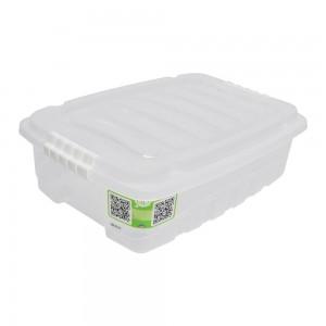 Imagem do produto - Caixa de Plástico Retangular Organizadora 9,3 L com Tampa e Travas Laterais Gran Box