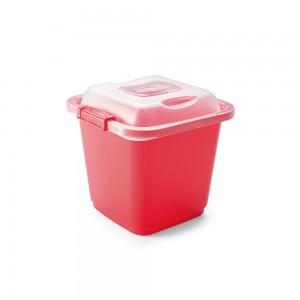 Imagem do produto - Pote de Plástico Retangular 630 ml com Travas Clic e Trave