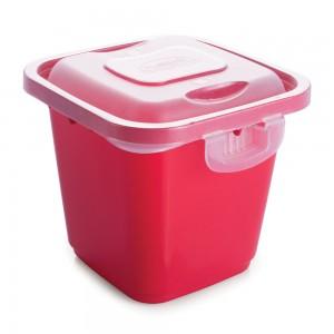 Imagem do produto - Pote de Plástico Retangular 3 L com Travas Clic e Trave