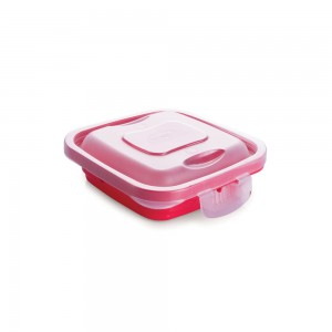 Imagem do produto - Pote de Plástico Retangular 150 ml com Travas Clic e Trave
