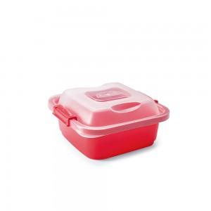 Imagem do produto - Pote de Plástico Retangular 570 ml com Travas Clic e Trave