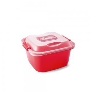 Imagem do produto - Pote de Plástico Retangular 1,62 L com Travas Clic e Trave